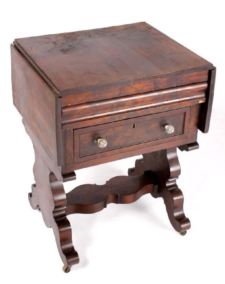 Empire Drop-Leaf Secretary Pen Table c. 1840 - 2