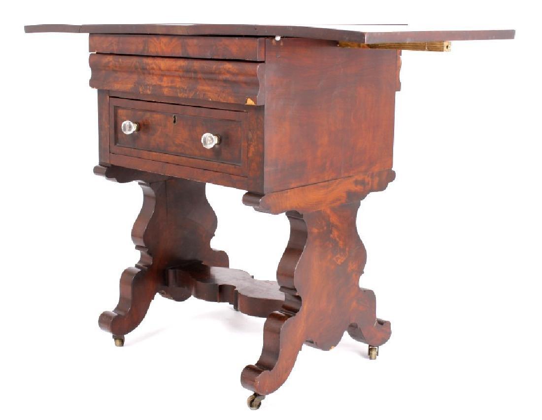 Empire Drop-Leaf Secretary Pen Table c. 1840 - 3