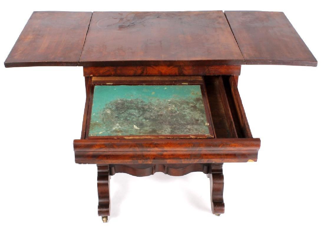 Empire Drop-Leaf Secretary Pen Table c. 1840 - 6