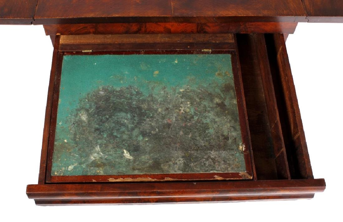 Empire Drop-Leaf Secretary Pen Table c. 1840 - 7
