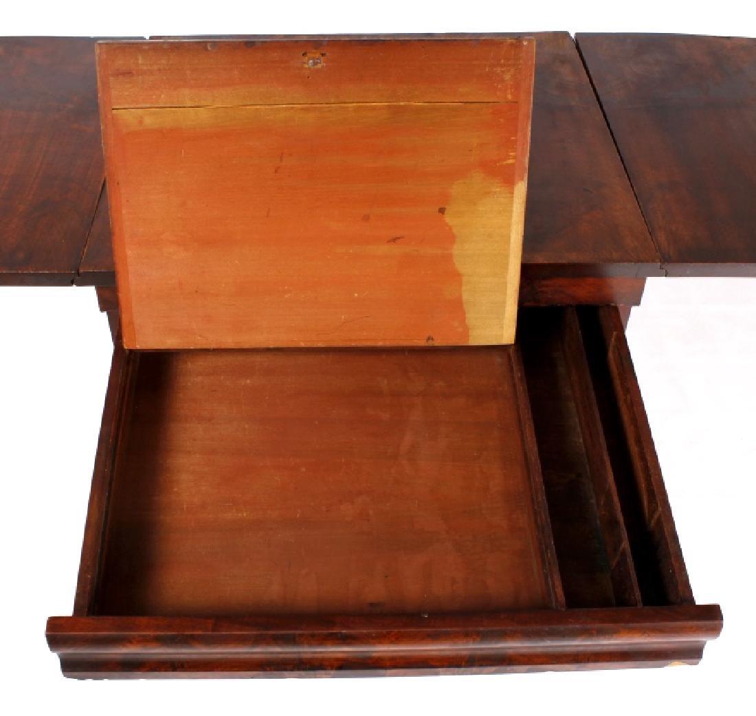 Empire Drop-Leaf Secretary Pen Table c. 1840 - 8