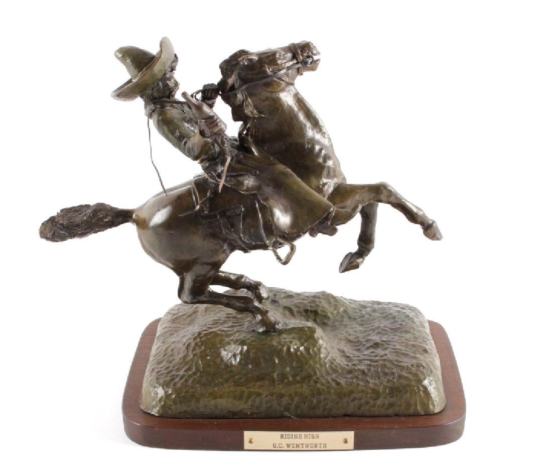 Original G.C. Wentworth Bronze Sculpture