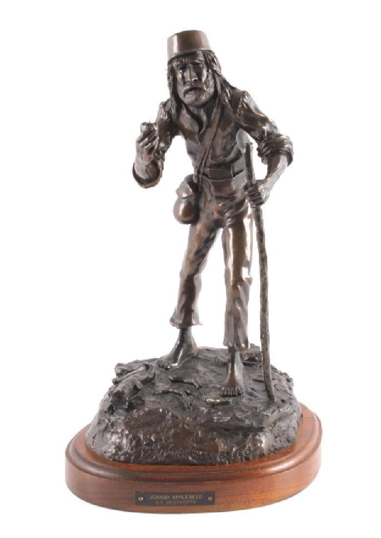 G.C. Wentworth Johnny Appleseed Bronze Sculpture