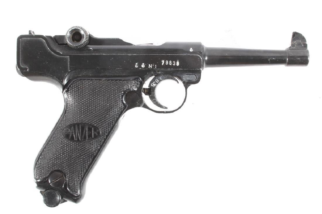 Spanish Lur Panzer .22 LR Luger Semi Auto Pistol