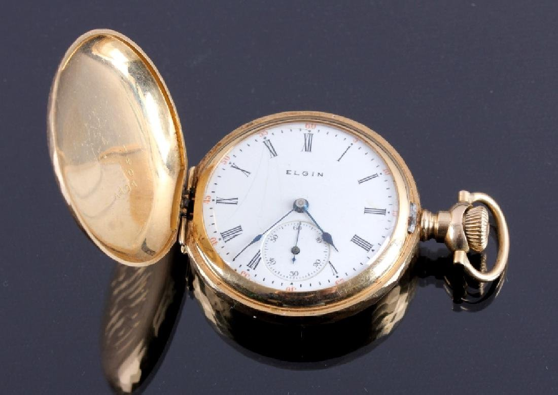 Antique 1905 Elgin 14K Gold 7 Jewel Pocket Watch