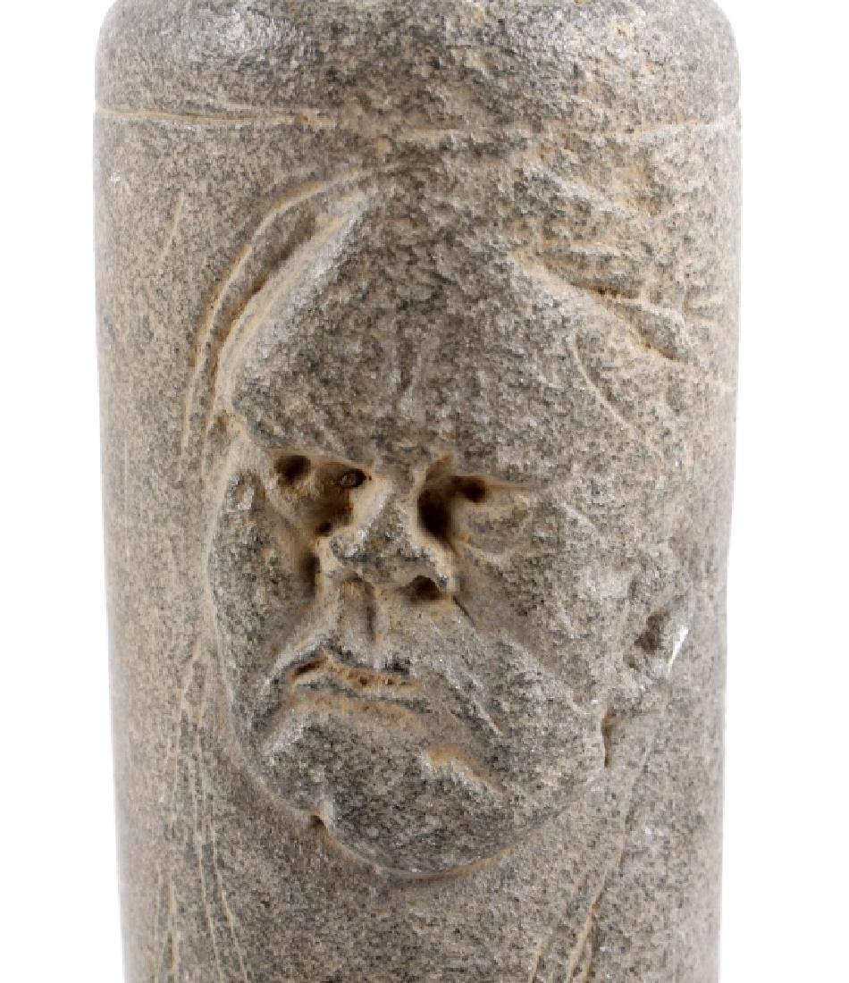 Hopewell Tradition Figural Carved Stone Tube Pipe - 4