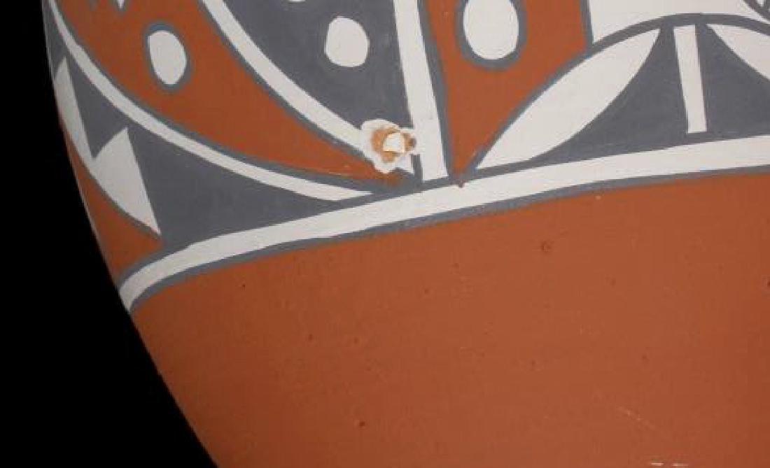 Jemez Pueblo Pottery Wedding Vase w/ Turquoise - 8