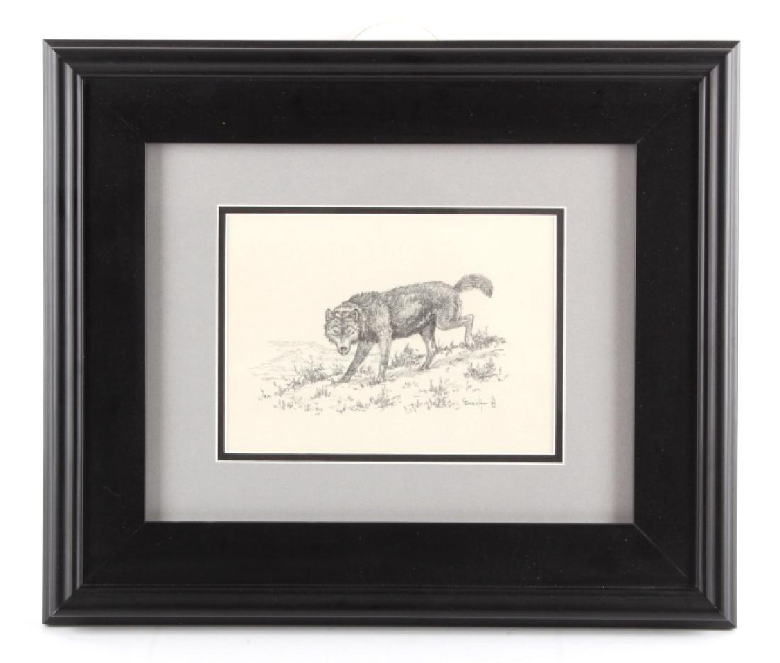 George Dabich Original Wolf Pencil Sketch