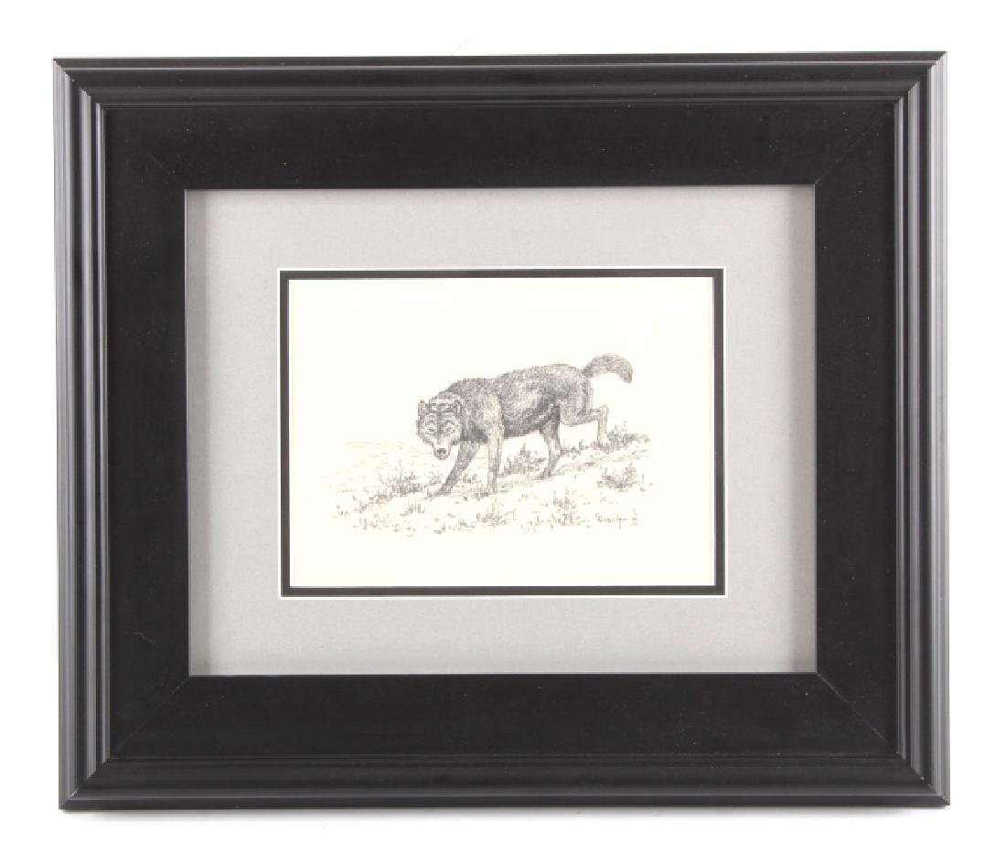 George Dabich Original Wolf Pencil Sketch - 2