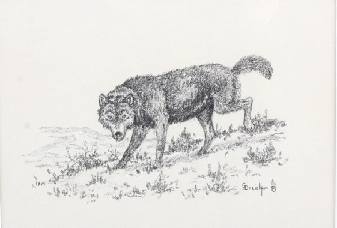 George Dabich Original Wolf Pencil Sketch - 3