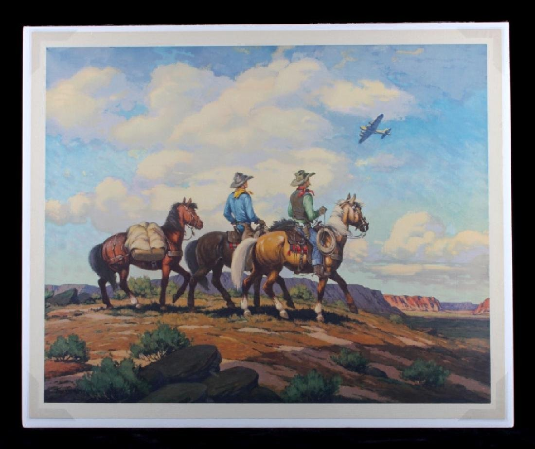 Till Goodan Westward Ho Cowboy Lithograph c.1939 - 10