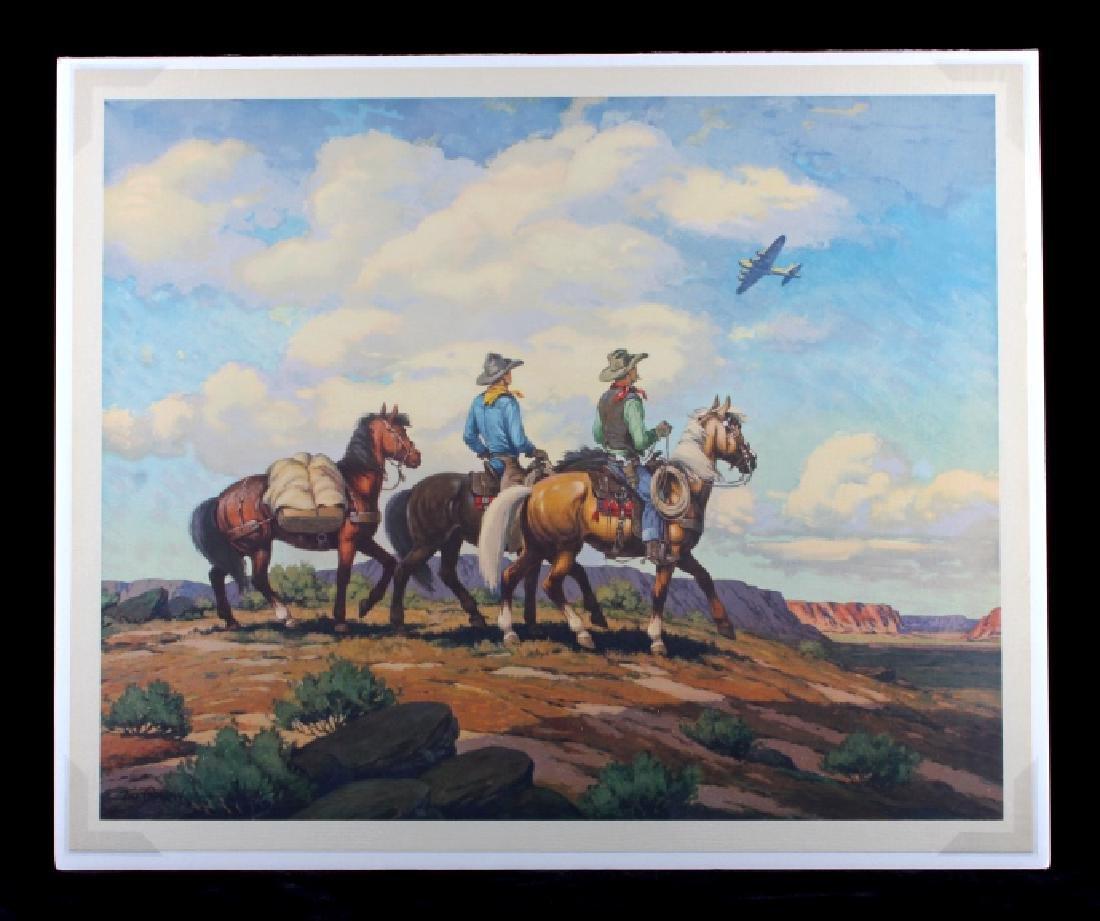 Till Goodan Westward Ho Cowboy Lithograph c.1939