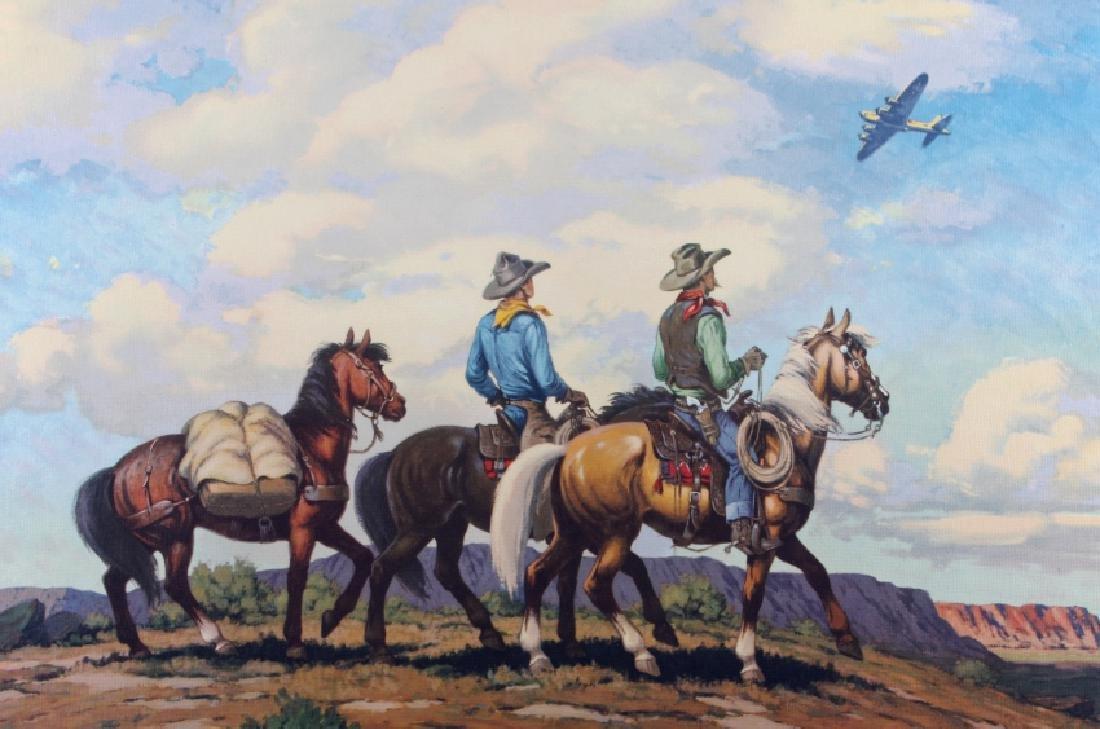Till Goodan Westward Ho Cowboy Lithograph c.1939 - 2