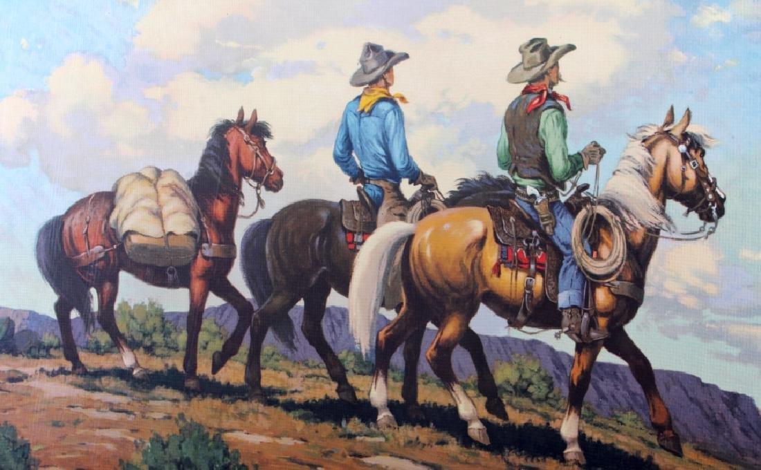 Till Goodan Westward Ho Cowboy Lithograph c.1939 - 3