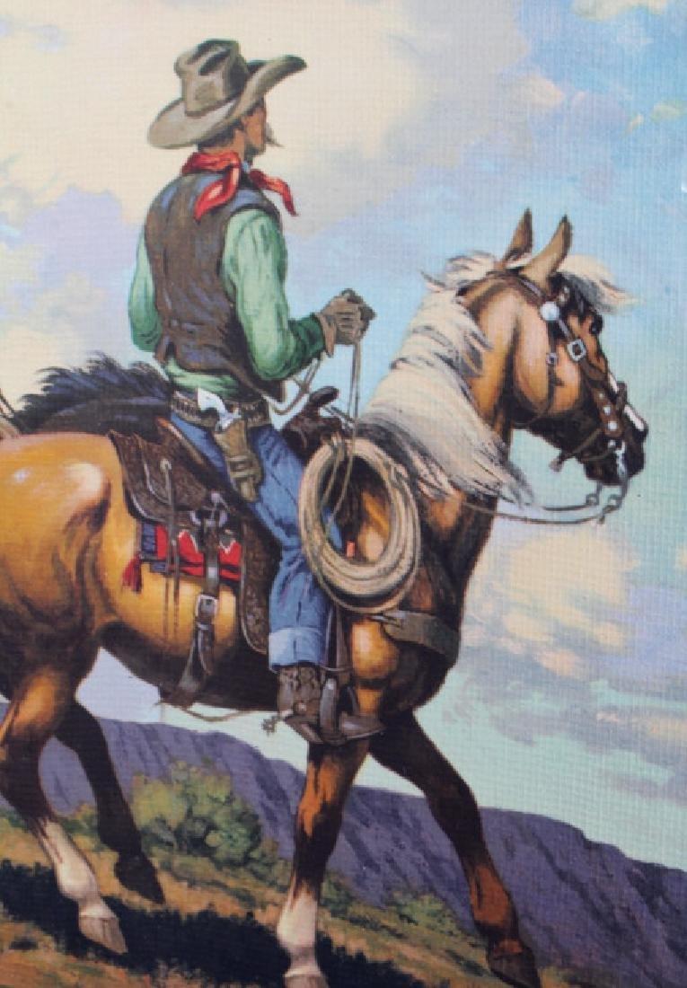 Till Goodan Westward Ho Cowboy Lithograph c.1939 - 5