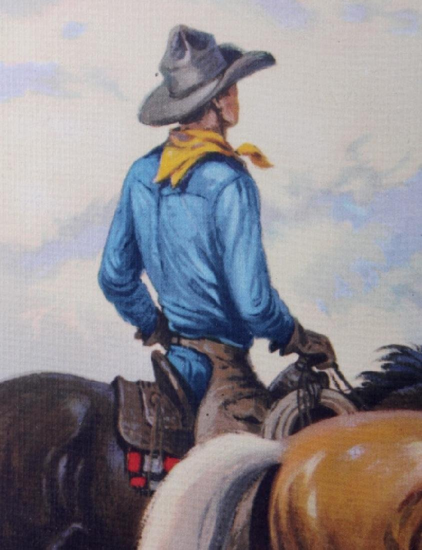 Till Goodan Westward Ho Cowboy Lithograph c.1939 - 6
