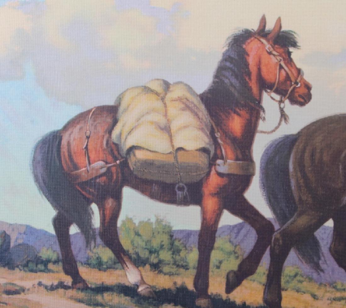 Till Goodan Westward Ho Cowboy Lithograph c.1939 - 7