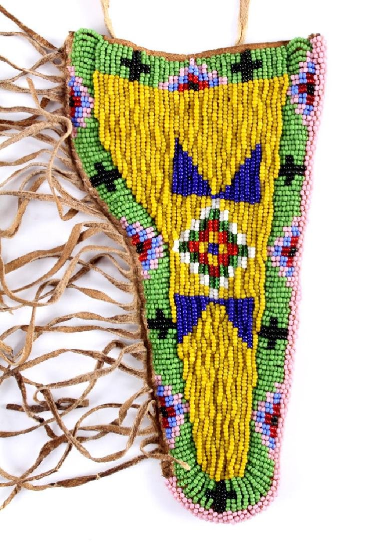 Sioux Indian Beaded Hide SAA Holster - 2