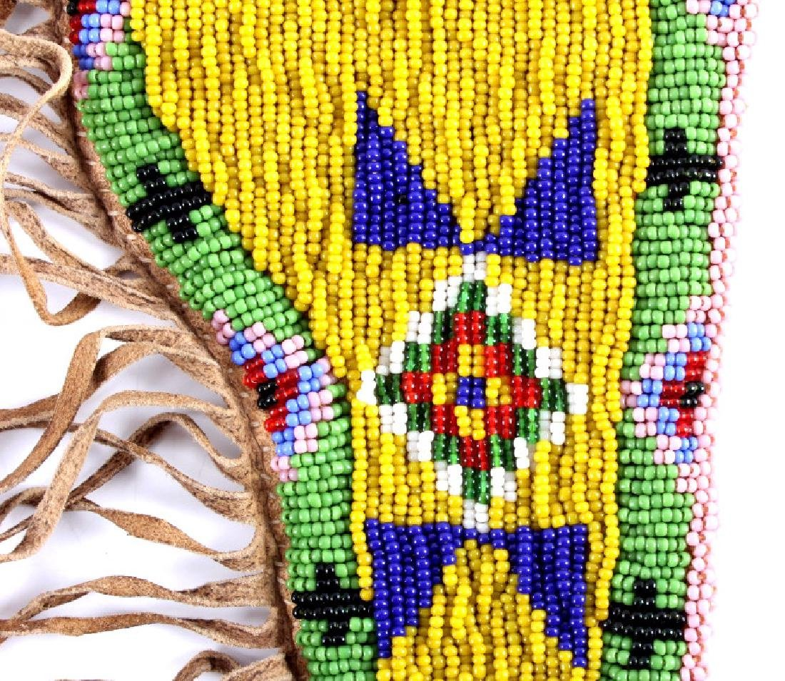 Sioux Indian Beaded Hide SAA Holster - 4