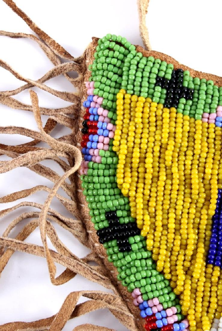 Sioux Indian Beaded Hide SAA Holster - 7