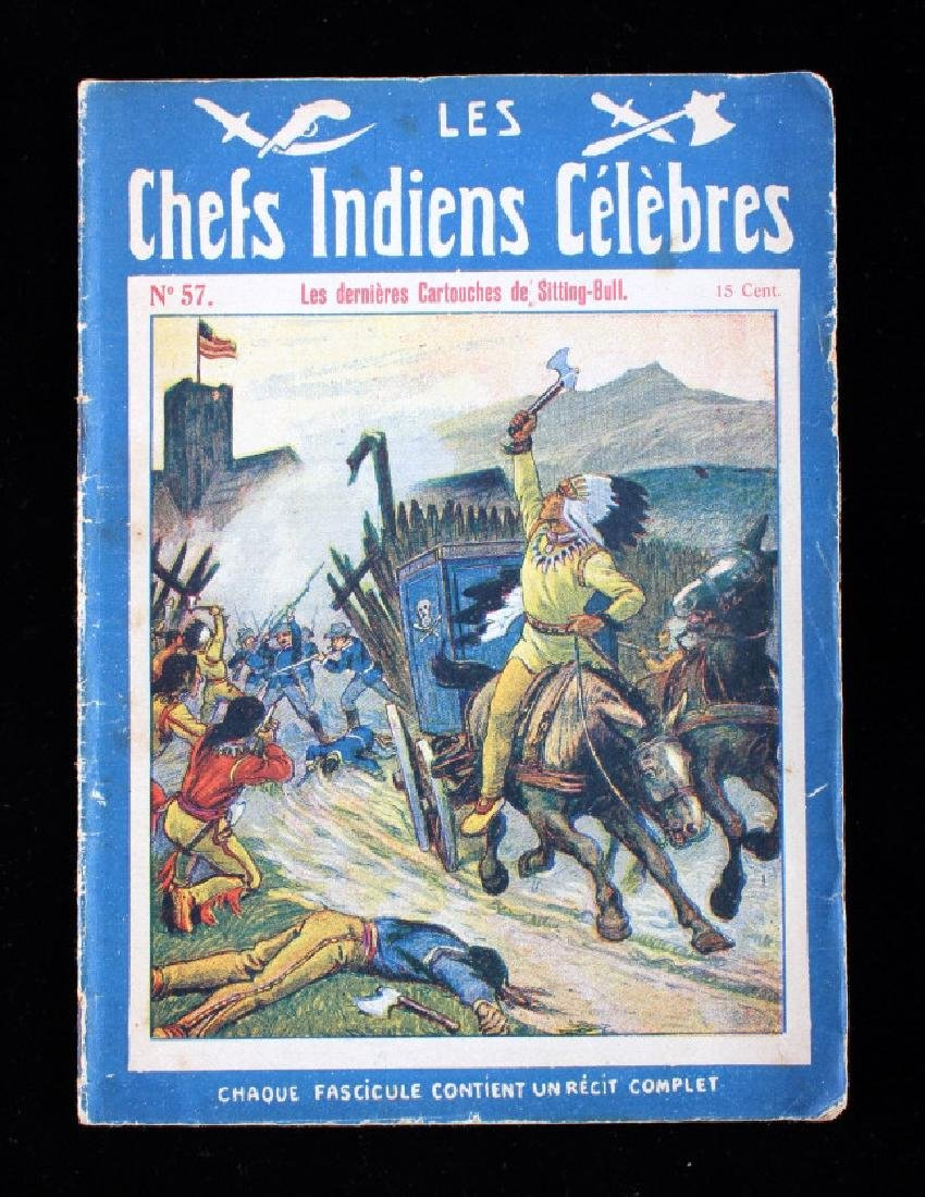 Antique French Sitting Bull Indian Dime Novels - 5