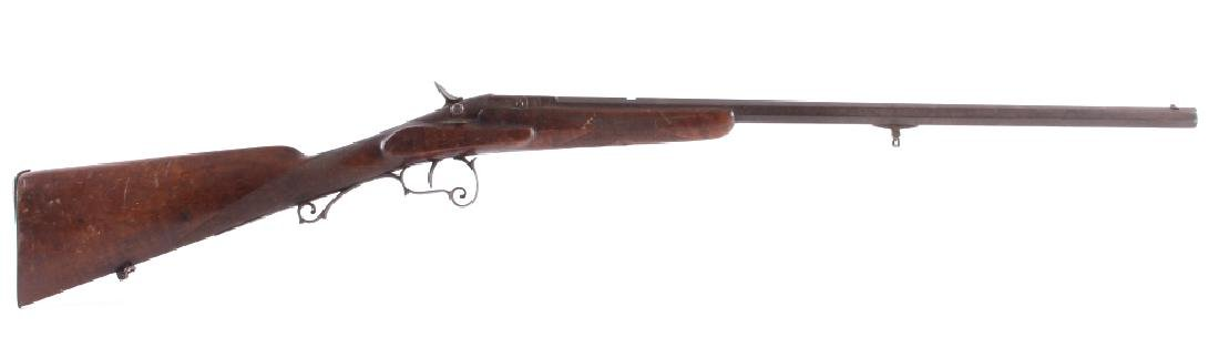Engraved 19th C Warnant Flobert 32 RF Parlor Rifle