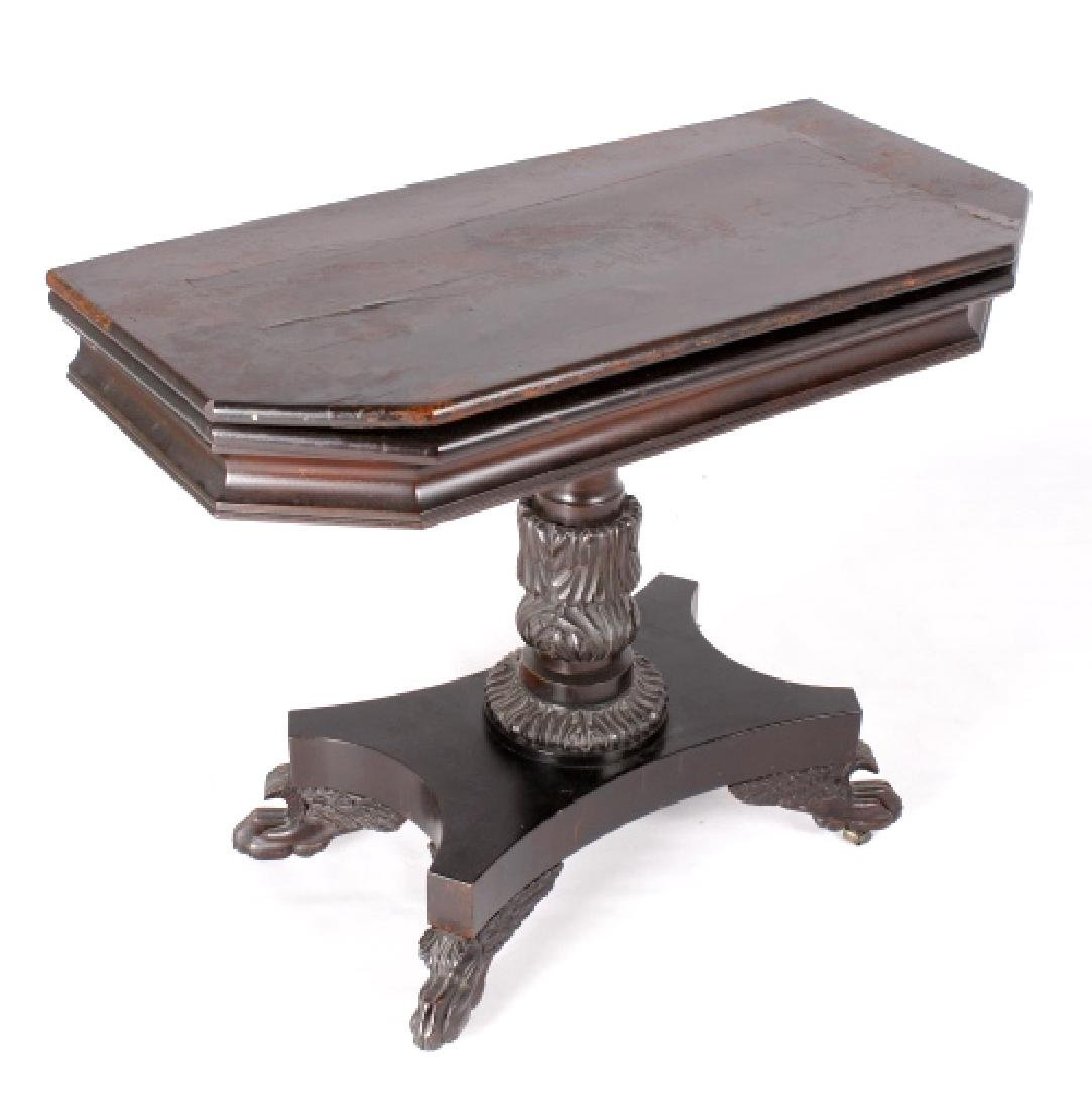 French Folding Mahogany Game Table c. 1740 -