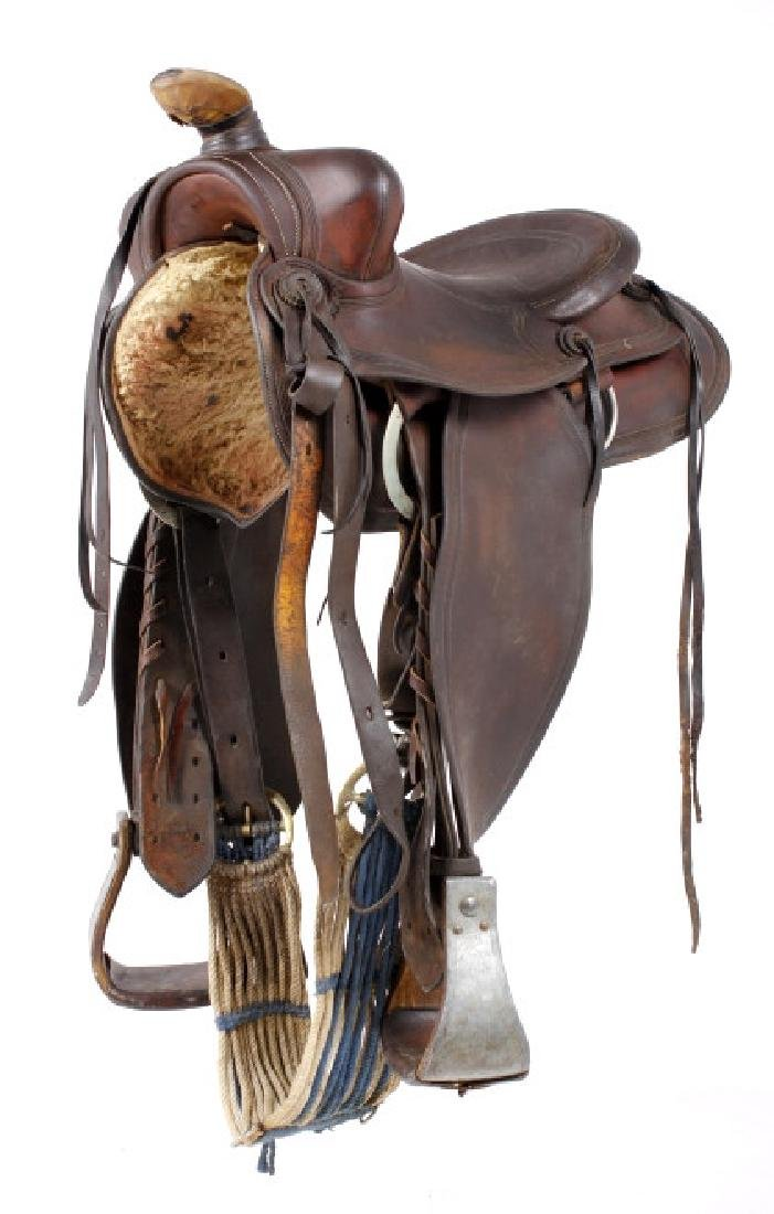 Harpham Bros. Co. Lincoln Nebraska Saddle