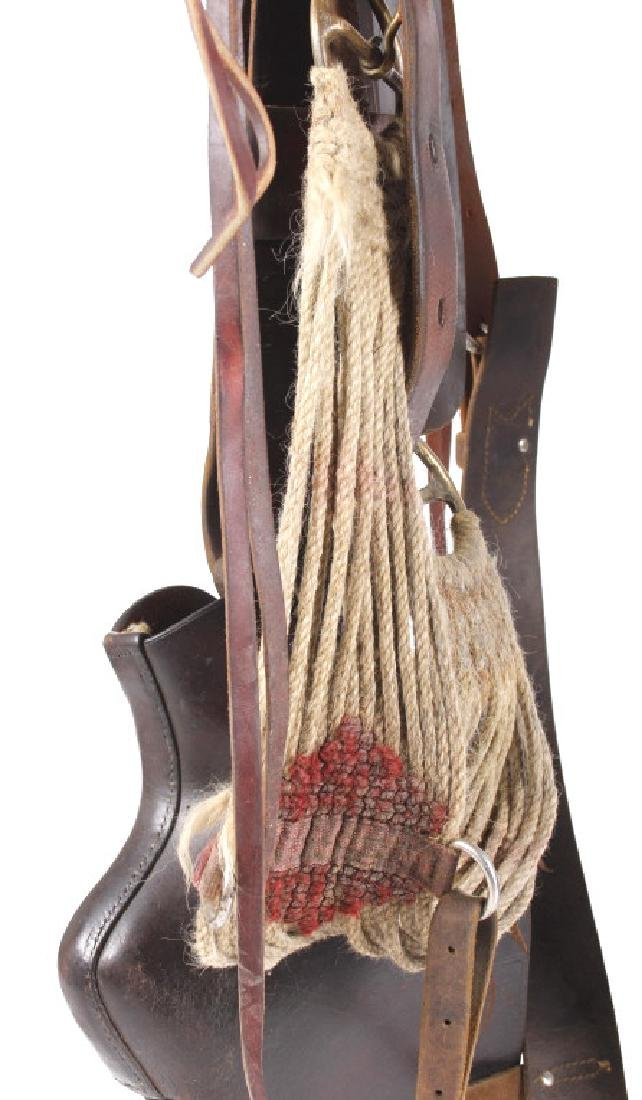 Early Basket Weaved Form Fitter Saddle & Tapaderos - 18