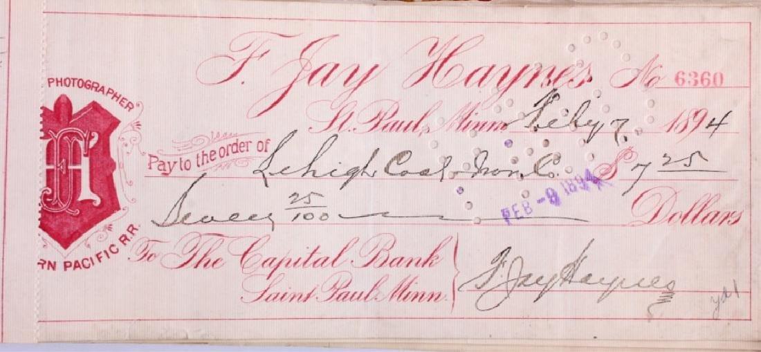 F. Jay Haynes Checkbook 1894 - 3