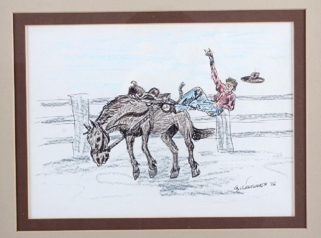 Original G.C. Wentworth Pen and Ink Sketches - 3