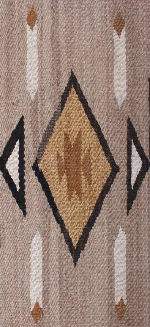 Navajo Two Grey Hills Pattern Wool Rug - 7
