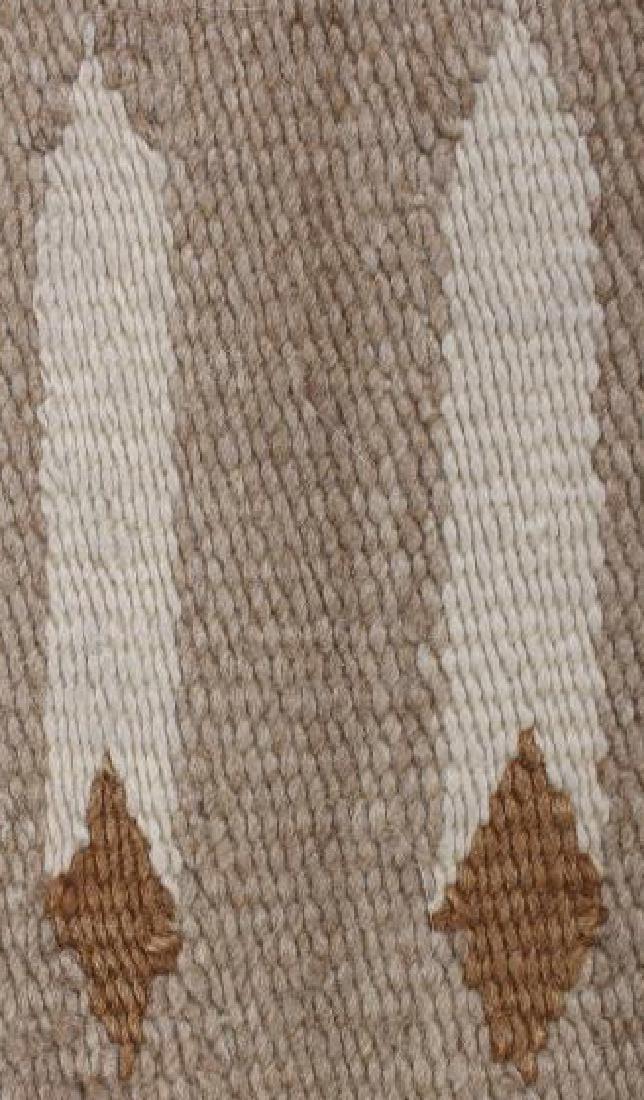 Navajo Two Grey Hills Pattern Wool Rug - 9