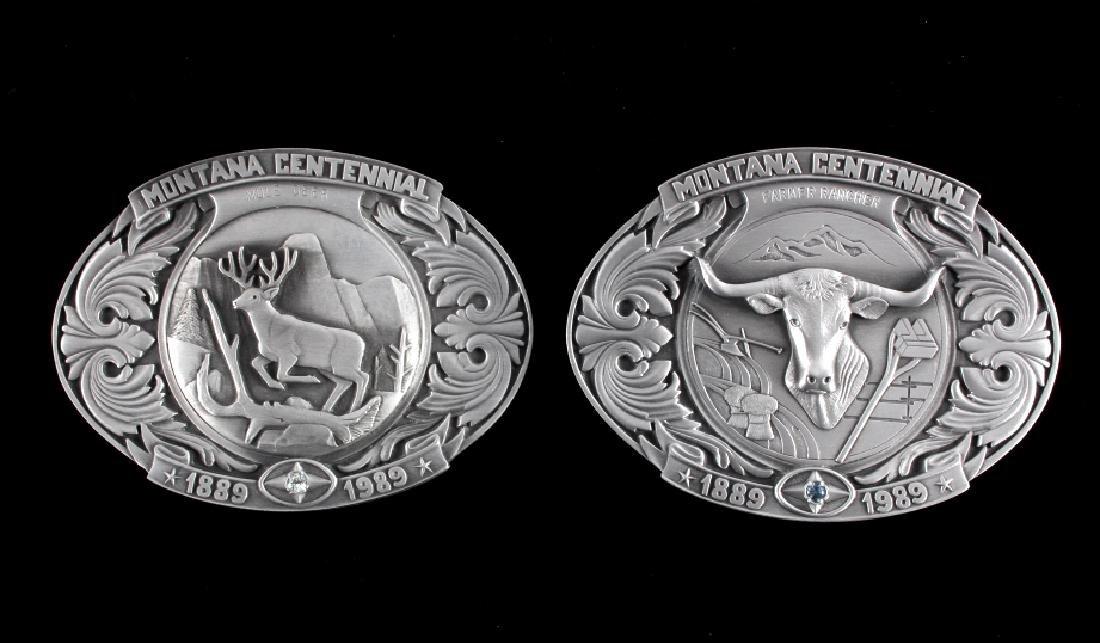 Montana Centennial Belt Buckle Collection - 4