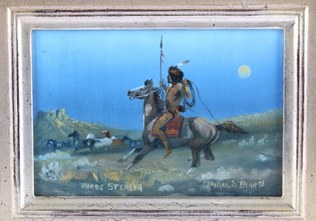Original Raydan Native American Oil Painting - 2