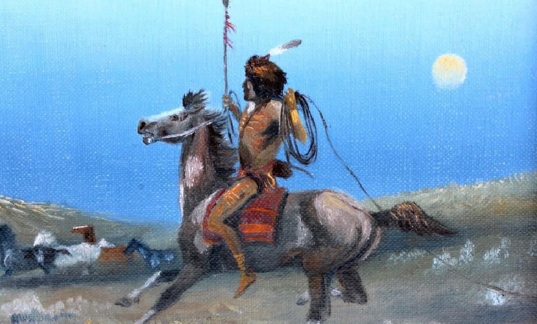 Original Raydan Native American Oil Painting - 3