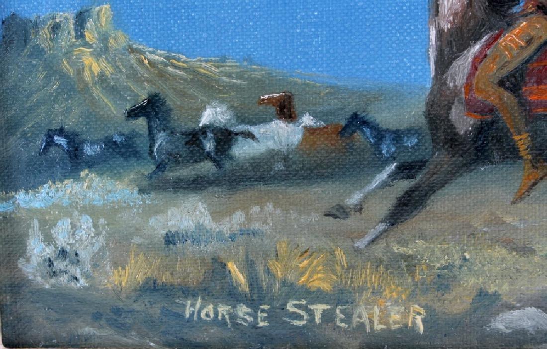 Original Raydan Native American Oil Painting - 4