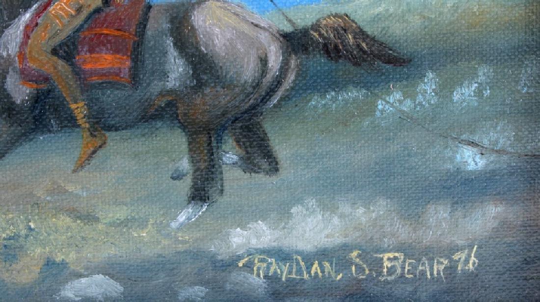 Original Raydan Native American Oil Painting - 5