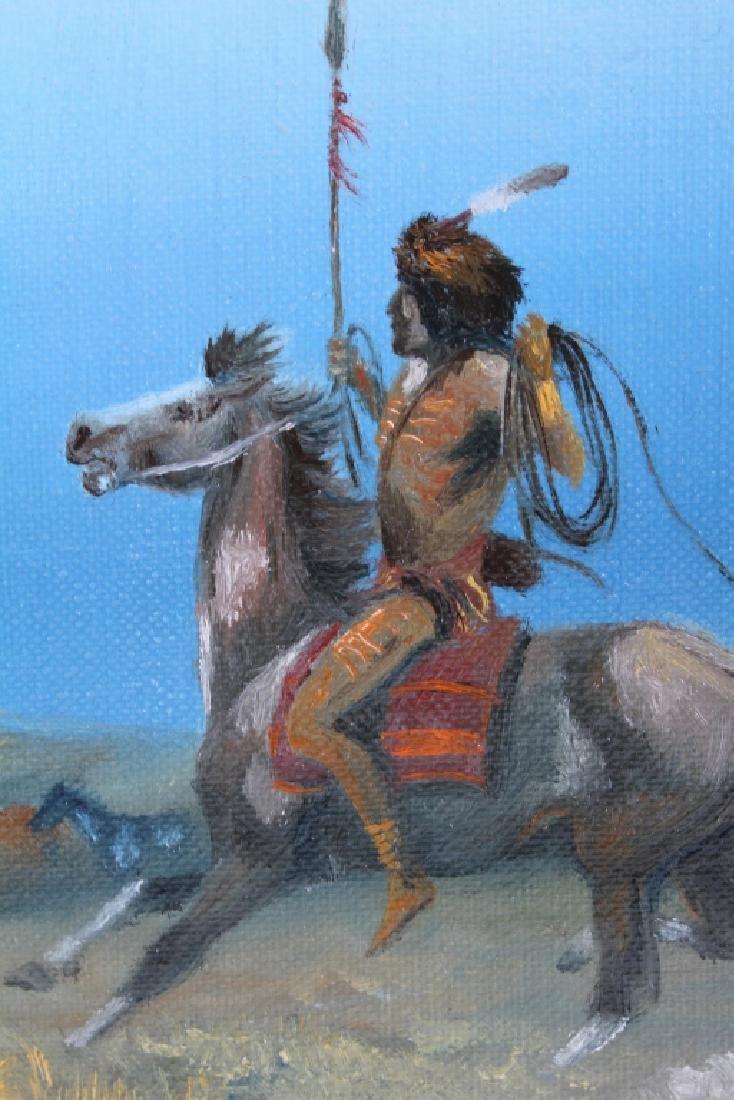 Original Raydan Native American Oil Painting - 6