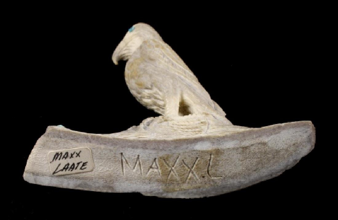 Zuni Maxx Laate Eagle Fetish Antler Carving - 6