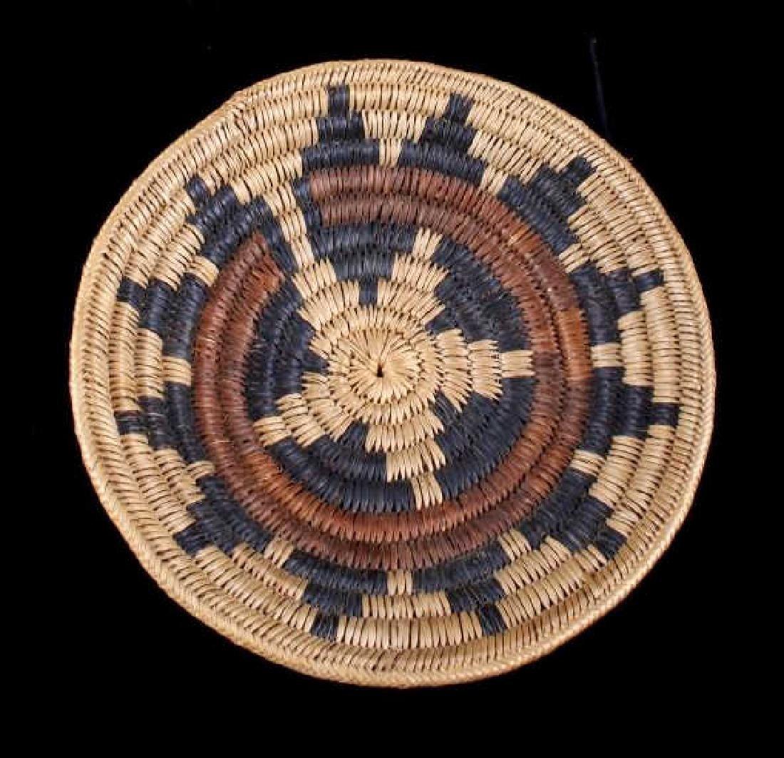 Hopi Indian Coil Plaque Navajo Wedding Basket 1950