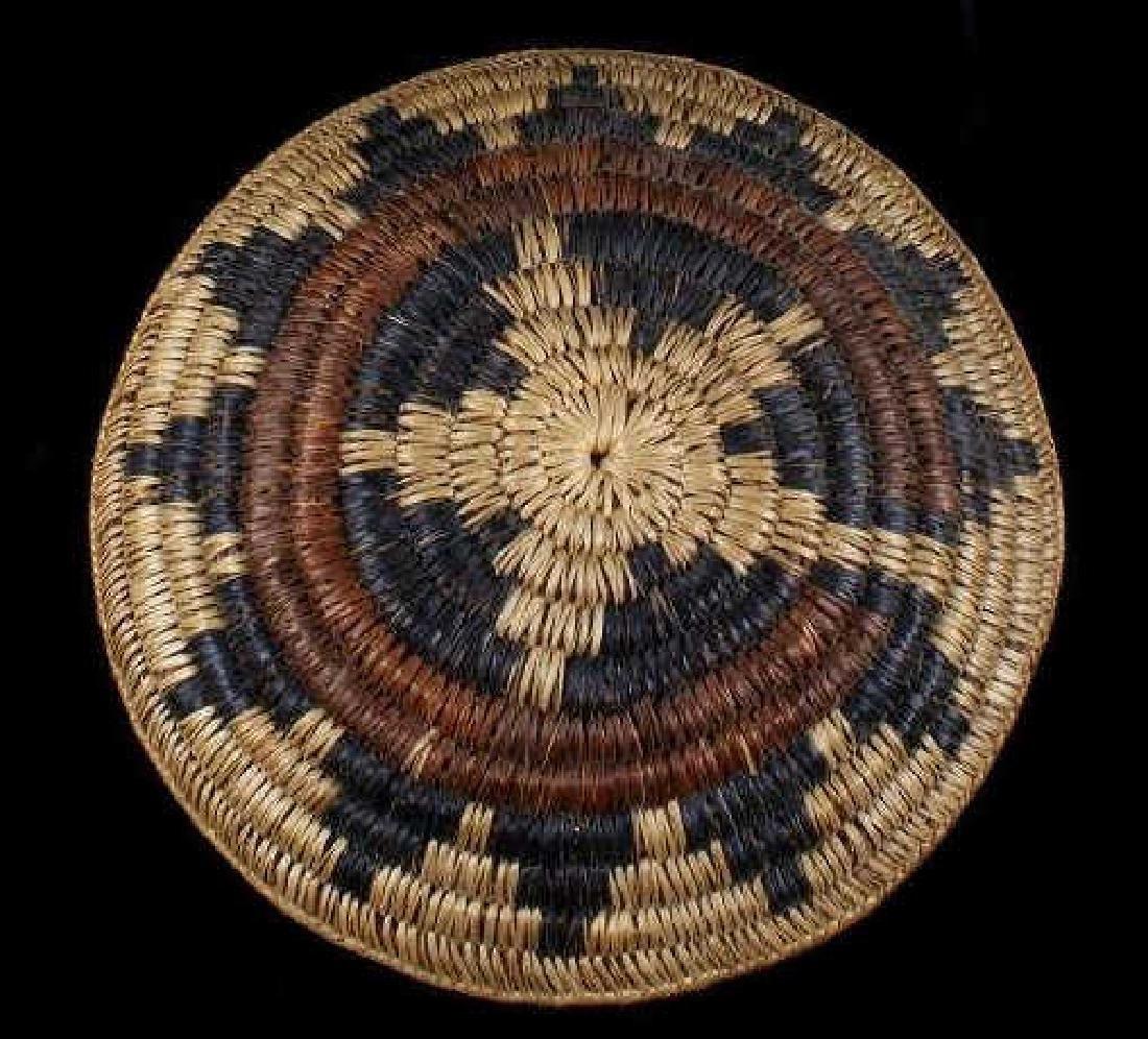 Hopi Indian Coil Plaque Navajo Wedding Basket 1950 - 2