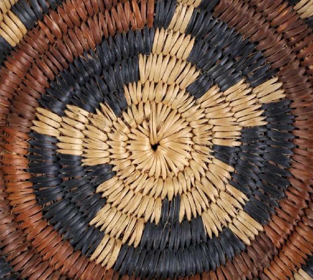 Hopi Indian Coil Plaque Navajo Wedding Basket 1950 - 5