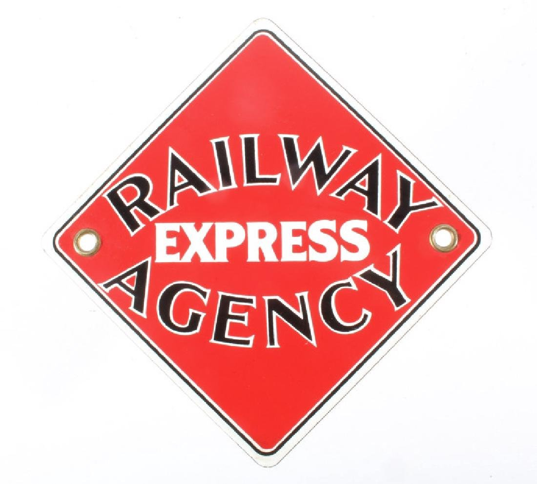 Original Railway Express Agency Porcelain Sign