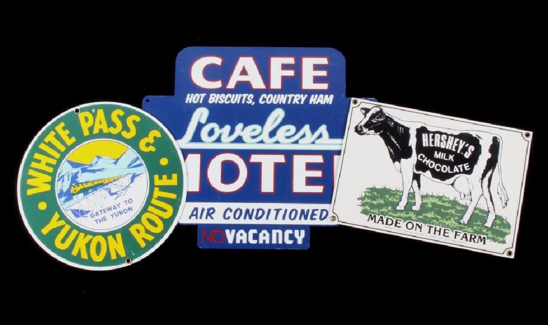 Americana Litho & Porcelain Advertisement Signs