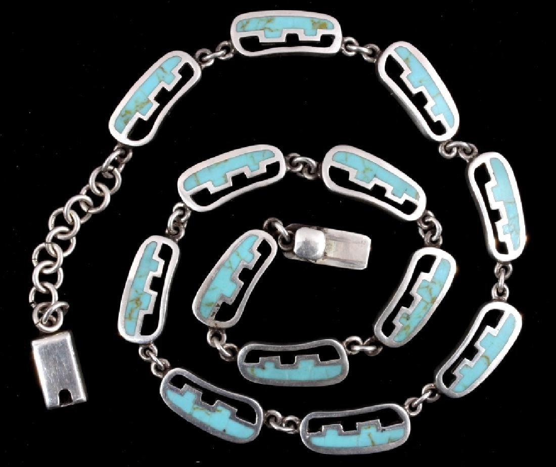 Taxco Mexico Sterling Silver Link Necklace - 10