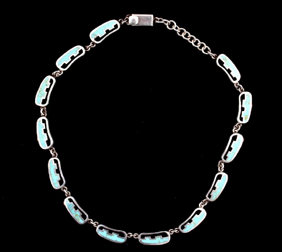 Taxco Mexico Sterling Silver Link Necklace