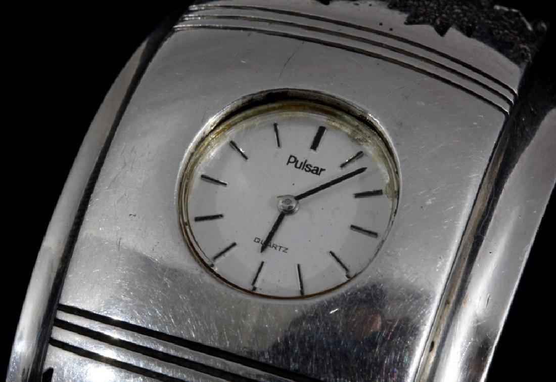 Alfred Joe Navajo Sterling Silver Cuff Watch - 3