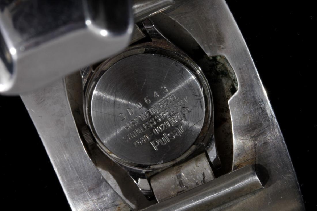 Alfred Joe Navajo Sterling Silver Cuff Watch - 5