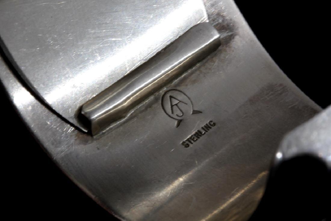 Alfred Joe Navajo Sterling Silver Cuff Watch - 6